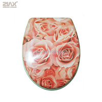 rose Toilet seats decorated for water closet seat