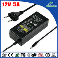 ZF120A-1205000 Power Supply 12V 5A AC DC Adapter 100-240V