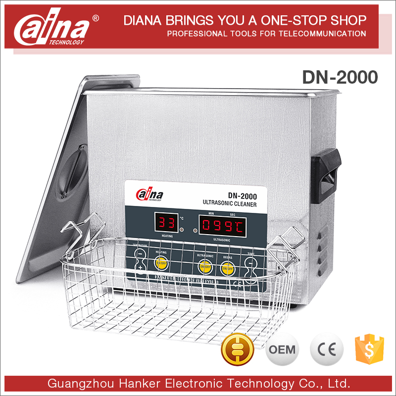 2017 Daina Latest product DN-2000 stylish big size 304 Stainless Steel ultrasonic cleaner with heating function for industry