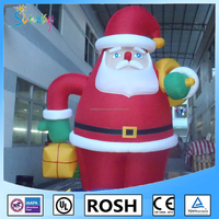 Sunway Lovely Beautiful Inflatable Western Christmas Decorations Hanging Santa