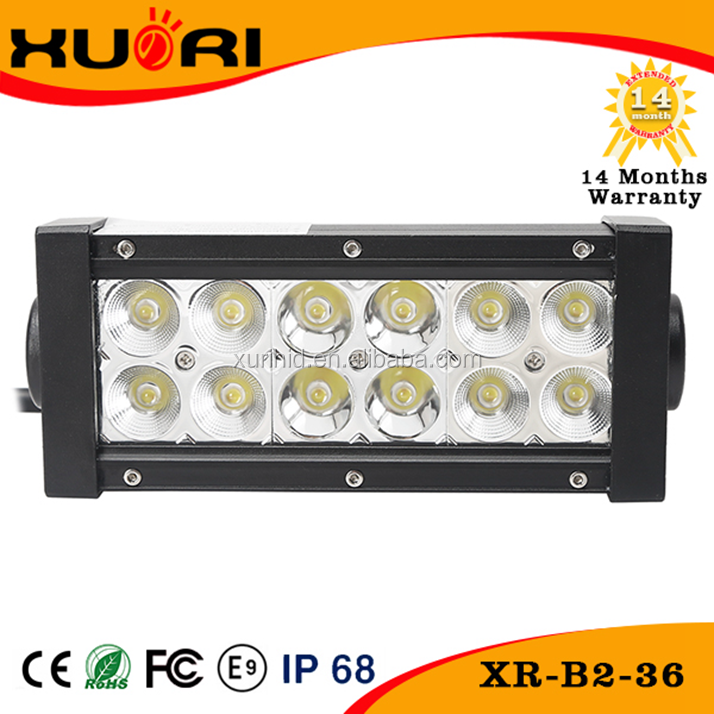 Top sale 36W double row curved led light bar 3650lm IP68 CE ROSH car accessories police led roof light bar