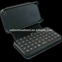 Sliding Mini wireless Bluetooth Keyboard with Leather Hardshell Case for iPod Iphone 4 Ipad