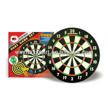 Hot sale dart game set,free checkout table and throw line,paper outdoor dart board set