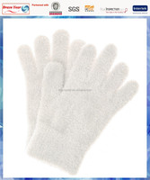 White knitted cotton gloves/knit gloves one size fits all/wholesale knit gloves