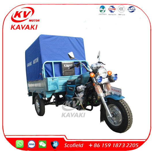 KAVAKI Motor 150cc Cargo Bike Cargo Tricycle With Cabin