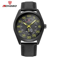Longbo brand date function 3 atm water resistant stainless steel watches men sport japan quartz movement watch