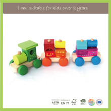 Kids Learning Classic Wooden Educational Toys Alphabet Train