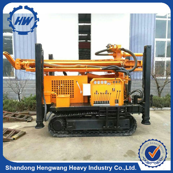 crawler hydraulic rotary drilling rig drilling water wells