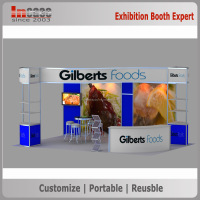 Classic anodizing aluminum frame trade show display, island exhibition booth stands