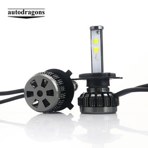 Super Bright DRL COB App Control LED Head lights Bulb H4 H7 9005 9006 H8 Fog Light 80W 8000LUMEN RGB Car LED Headlight Bulbs h4