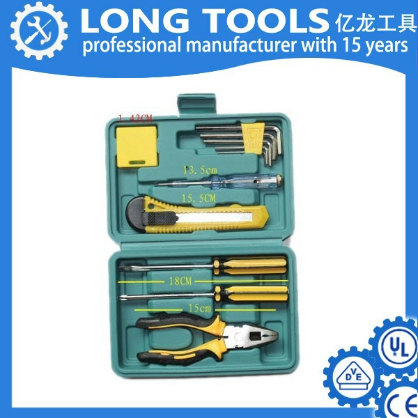 Top quality germany design hand plumbing electrical complete tool box set