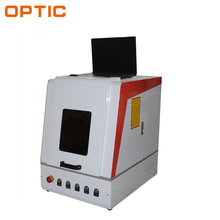 Chinese discount removable type sealing parts plastic bumper mark machine mini laser marking machine for metal from OPTIC Tech