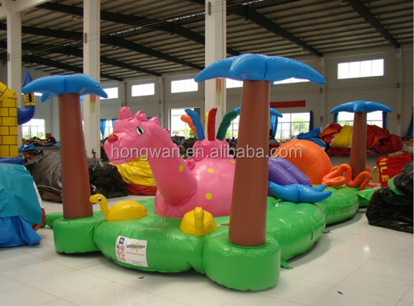 Lovely cute inflatable fun city game amusement park equipment