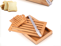 Bread and Dip Board Set/Pure Bamboo Bread Cutting Board with Knife and Dip