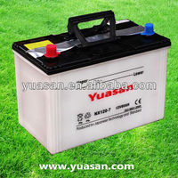 Hot Producing YUASAN Lead Acid Dry Charged NX120-7 Car Battery--12V80AH