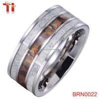 Tungsten carbide ring inlay antler,deer antler wedding rings