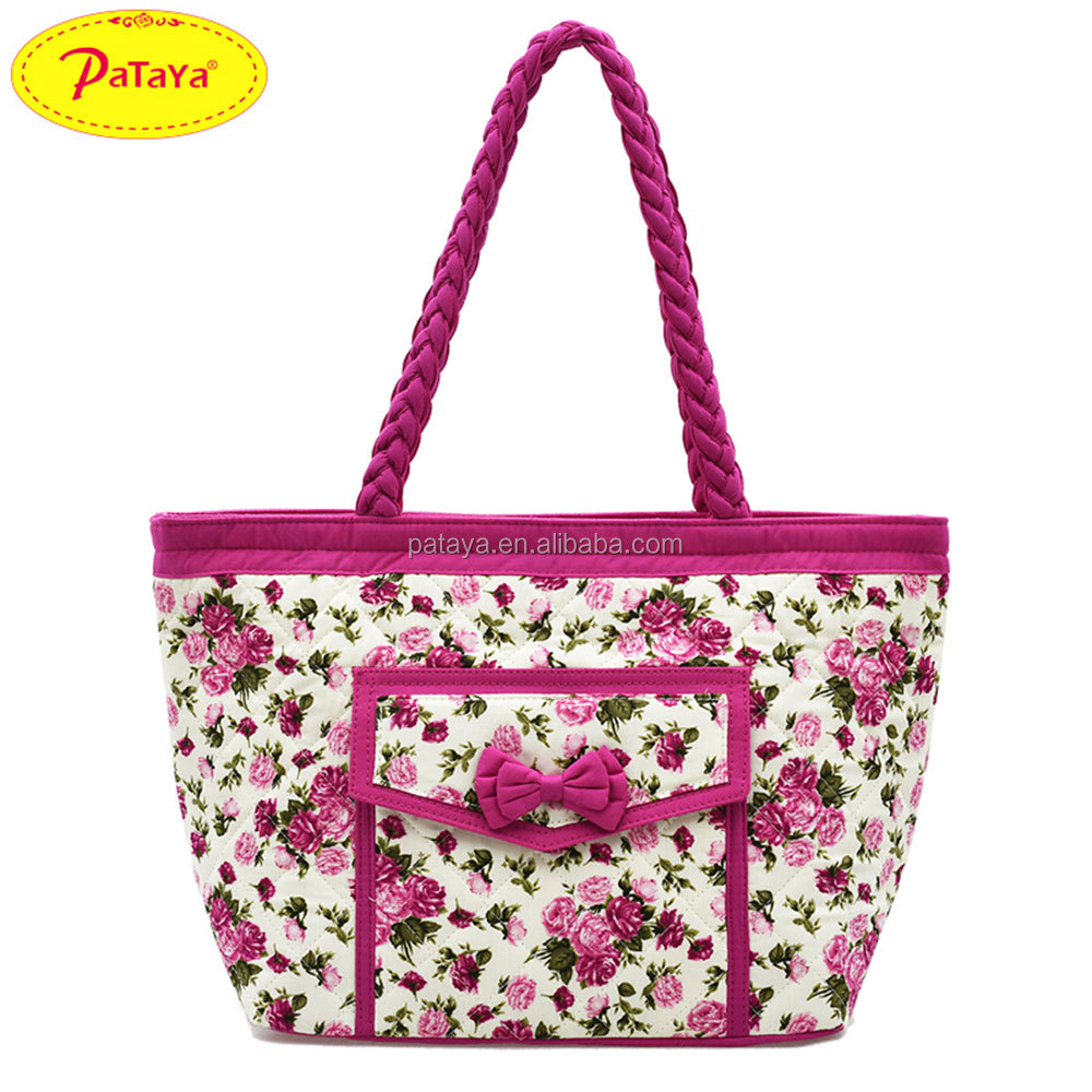 Cotton cloth bag handbag Bangkok Thai fashion printing dumplings bag hand the bill of lading shoulder bag