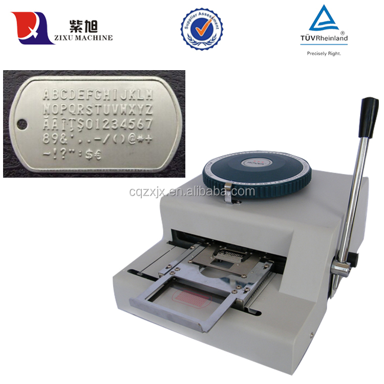 Manual Portable Sheet Metal Tag Embossing Machine
