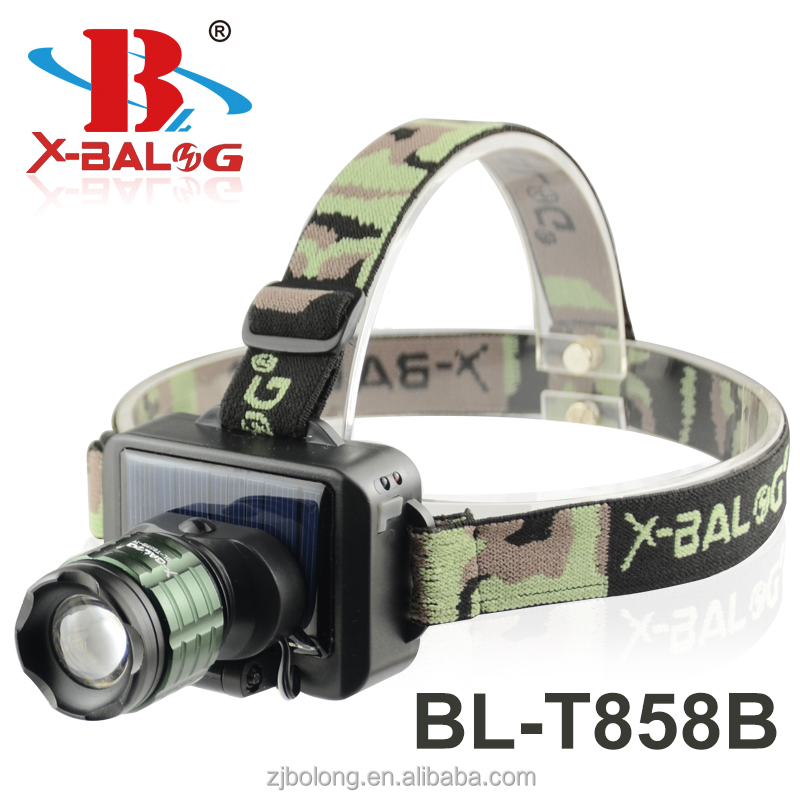 BL-T858B Solar panel led rechargeable headlamp