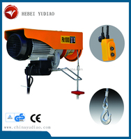 Portable design 0.5ton ~ 5ton mini electric hoist with Alibaba Trade Assurance European Market Construction