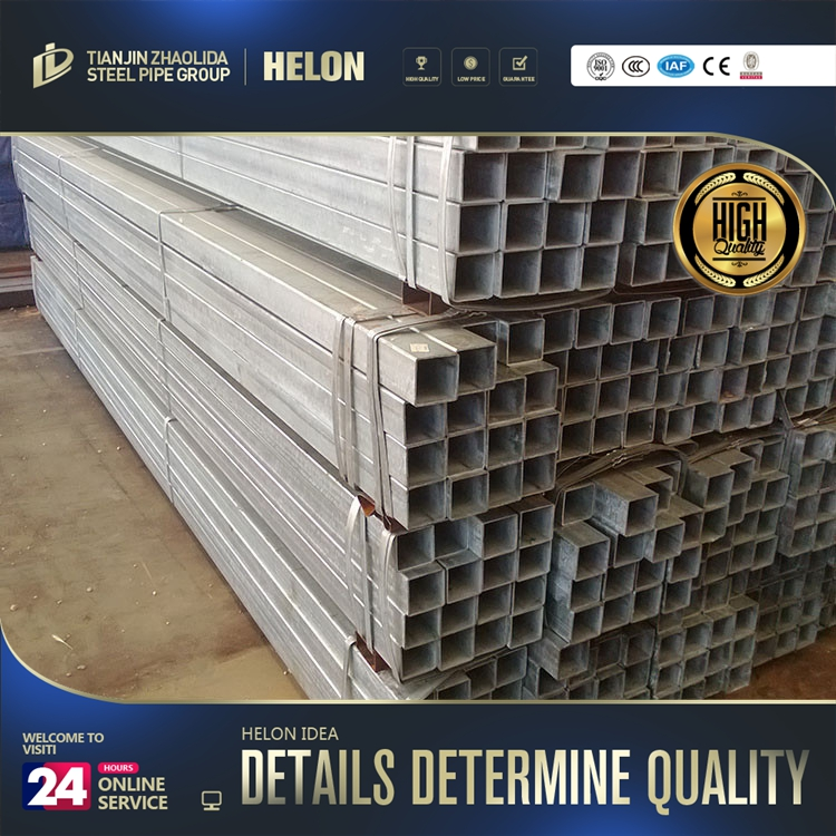 square tube stock ! hot sale square steel tube zinc 60g-80g fence panels zinc coated welded square steel pipe