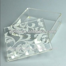 Square acrylic jewelery boxes with lid