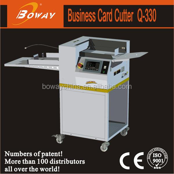 BOWAY Q330C High Speed 320mm X 999mm auto paper feeding Business Card Cutter
