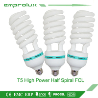 modern T4 full spiral 45w E27 FCL 3u energy saving lighting lamps Chinese manufacturer