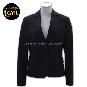 cheap price black fashion ladies office suits