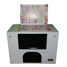nail machine for 5 nails printing with 2 cartridges freely and 3 flowers printing at same time