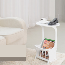 White Waterproof European Style Side Table For Bedroom Balcony Living Room movable side table