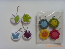 promotion present beautiful flower shape rubber transponder key cover