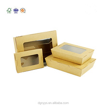 Food cosmetic gift packaging kraft paper box with window