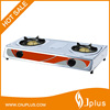 JP-GC206 comfortable design 2 burners ce cast iron grate gas stove