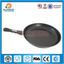 flat non stick carbon steel frying pan
