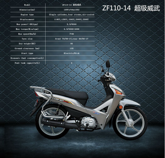 chinese manufacture sales of motorcycles in south(ZF110-14)