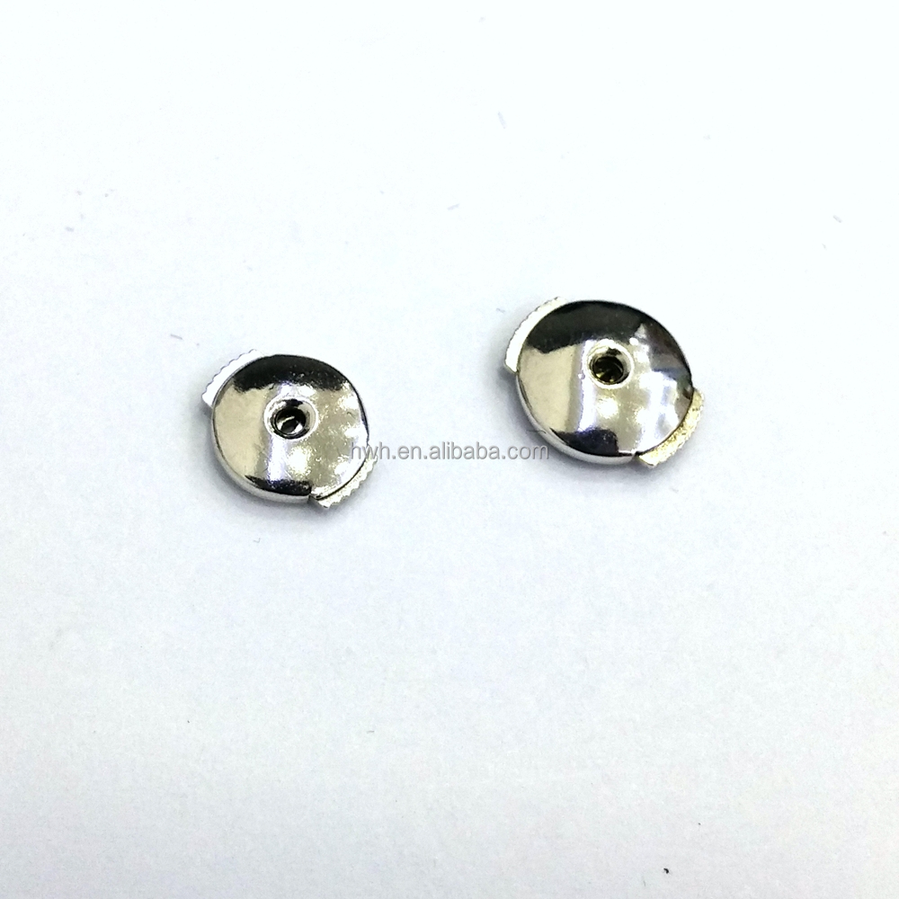 H1844/8m Sterling Silver 8mm Round Shiny Spring Earring Stoppers