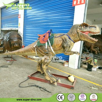 Animatronic T-rex Walking with Dinosaur Ride