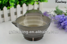 2013 Hottest newest design non slip rubber bottom hair dye mixing bowl in Plastic Bowls