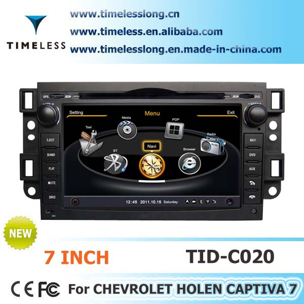 2 Din Car DVD player For CHEVROLET HOLEN CAPTIVA 7 with built-in GPS, A8 chipset, RDS,BT,3G/Wifi, 20 dics momery(TID-C020)