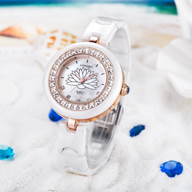 NEW YEAR gift for Ladies design fashion diamond white watch wholesale