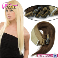 Different Human Hair Color Silky Straight Human Hair Skin Weft Tape Hair Extensions