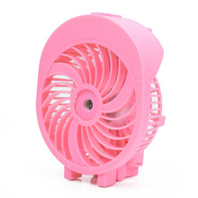 High Quality Mini Usb Rechargeable Electric Portable Misting Fan With Charger