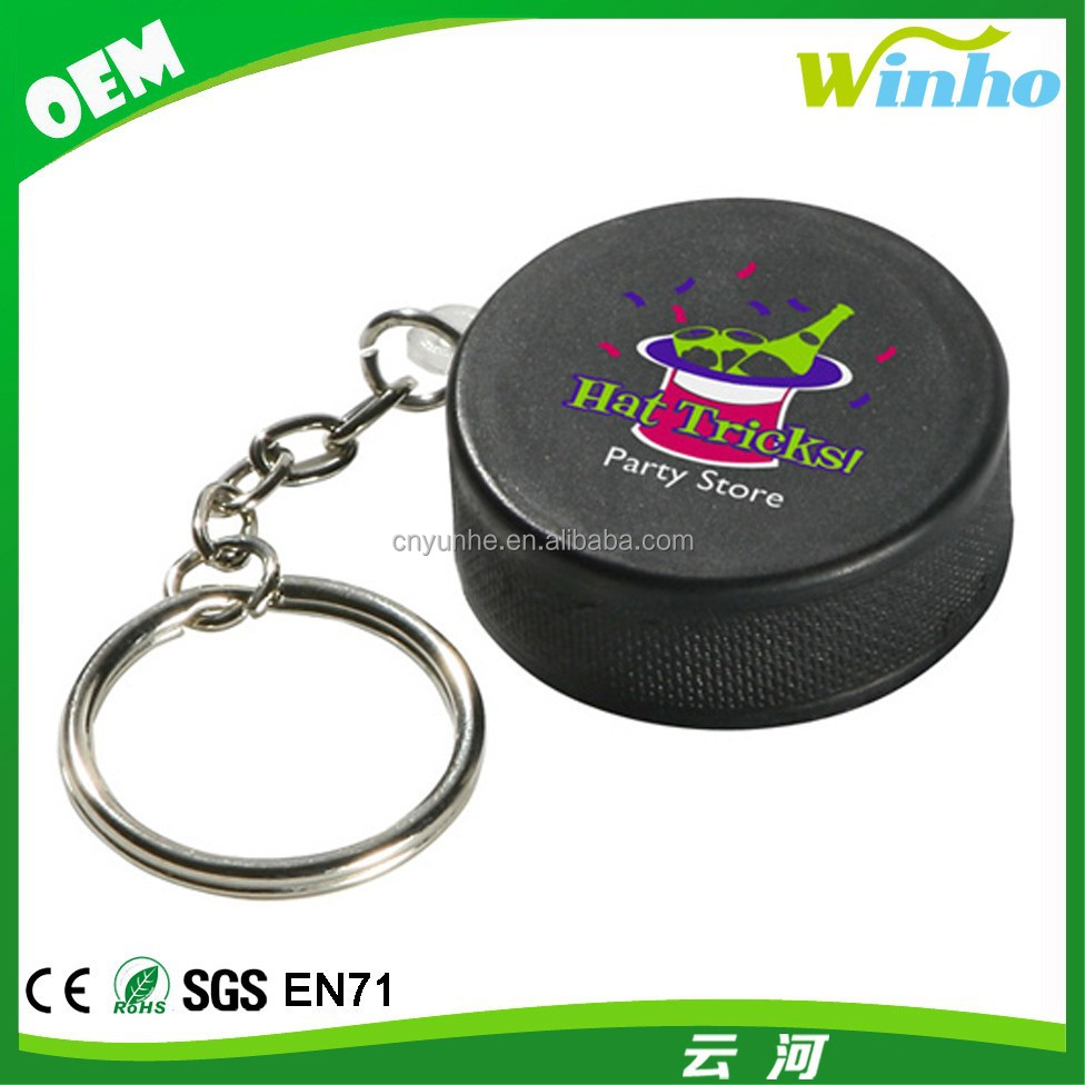 Winho Mini Hockey Puck Stress Reliever Keyring