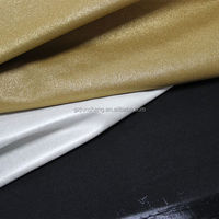 Metallic foil Pu leather for bag and shoes usage with soft hand feeling