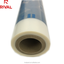 Colored clear plastic PE heat shrink film for mineral water bottle packing