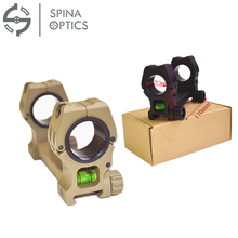 SPINA OPTICS High Profile Bubble Level Cantilever Ring Mount 30mm 1 Inch Inserts Picatinny Rails for Shooting Hunting