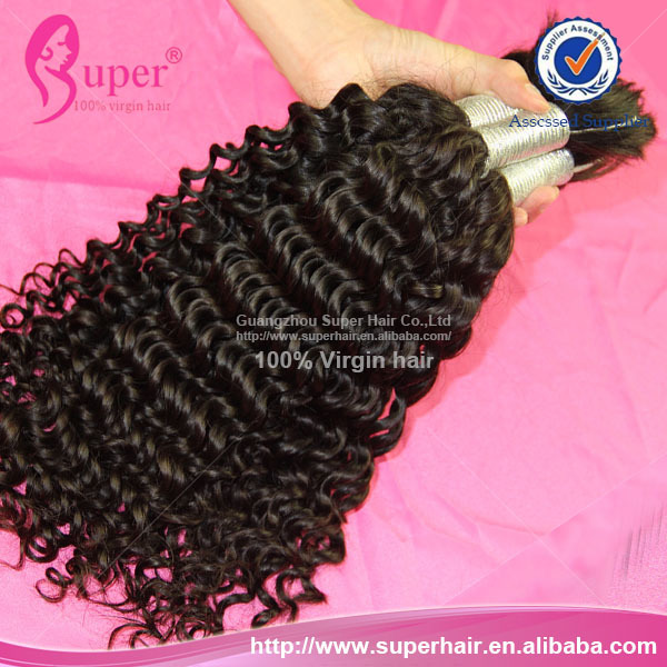 Malaysian Hair Extensions Polish Display ,100% Remy Malaysian Hair, Afro Kinky Curly Hair For Braiding