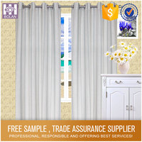 Fashion Design Luxury Polyester blackout curtain grey curtains