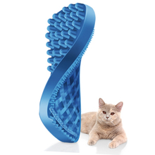 Yiwu Factory Cheap Price Silicone Pet Brush,Deshedding Tool Pet Brush Grooming Tool Dog + Cat Silicone Handle
